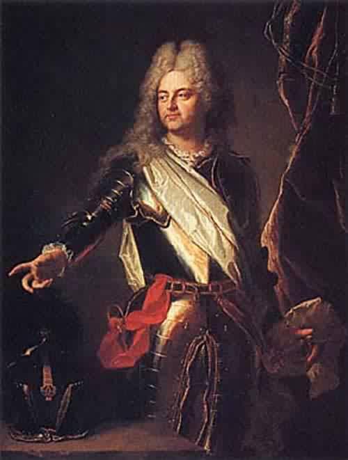 Portrait of Charles Auguste d Allonville Marquis de Louville 1708 | Hyacinthe Rigaud | oil painting