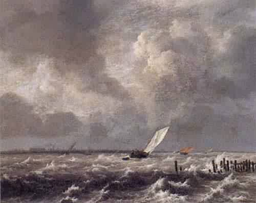View on the IJ on a Stormy Day about 1660 | Jacob Van Ruisdael | oil painting