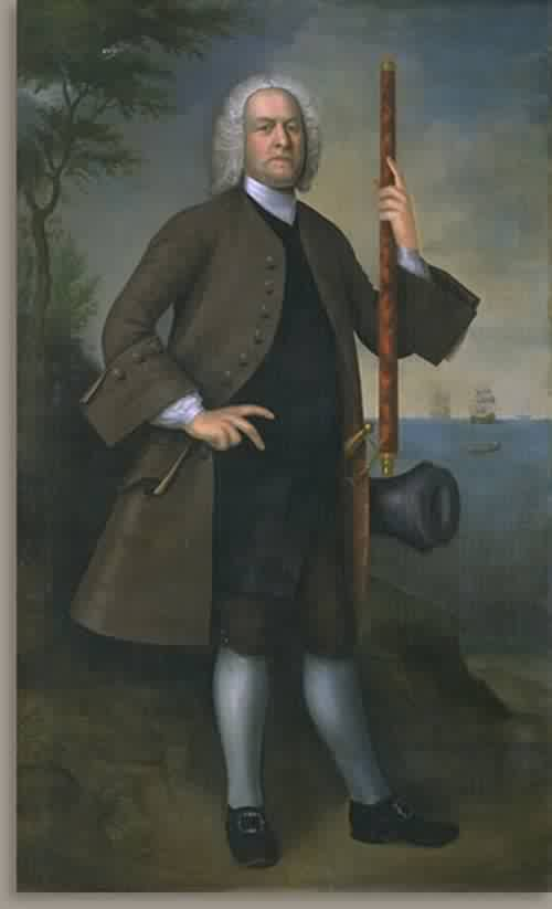 Captain Lieutenant John Larrabee about 1750 | Joseph Badger | oil painting
