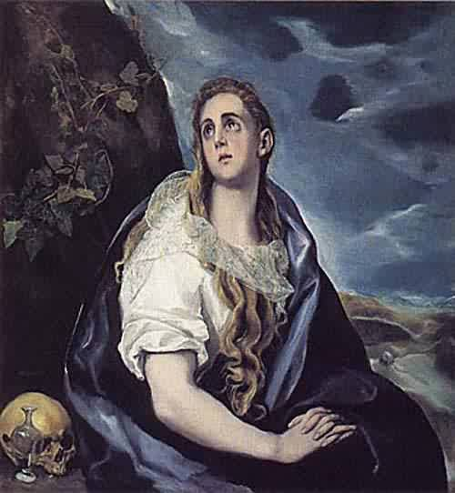 The Repentant Magdalen about 1577 | El Greco Domenikos Theotokopoulos | oil painting