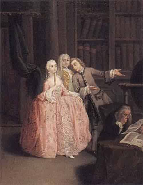 Visit to a Library about 1760 | Pietro Longhi | oil painting