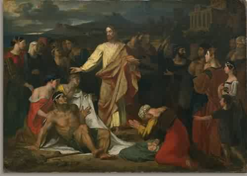 Christ Healing the Sick 1813 | Washington Allston | oil painting