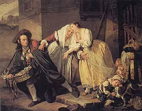 Le Geste Napolitain 1757 | Jean Baptiste Greuze | oil painting