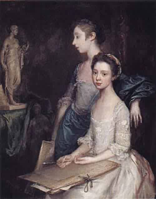 Portrait of the Artists Daughters about 1763 64 | Thomas Gainsborough | oil painting