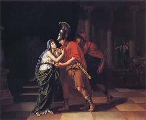 Electra Receiving the Ashes of Her Brother Orestes 1826 27 | Jean Baptiste Joseph Wicar | oil painting