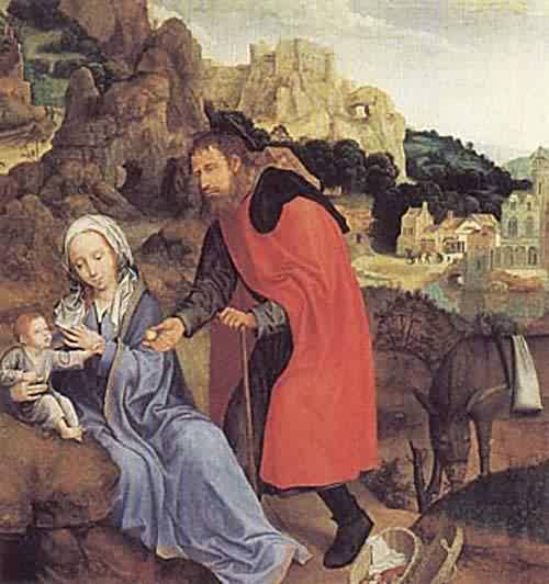 The Rest on the Flight into Egypt about 1509 13 | Quentin Massys | oil painting