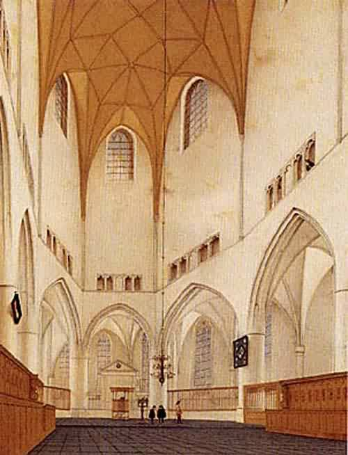 Interior of the Choir of Saint Bavos Church on Haarlem 1660 | Pieter Saenredam | oil painting