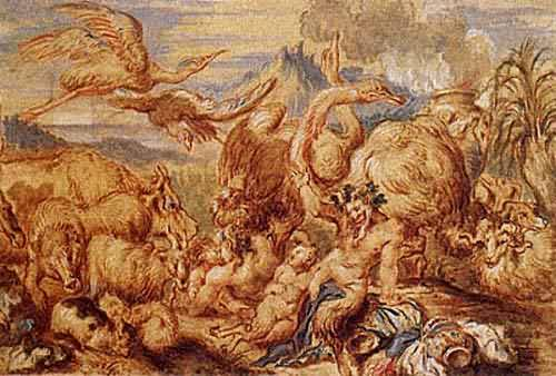 A Satyr Family among Animals about 1650 | Giovanni Benedetto Castiglione | oil painting