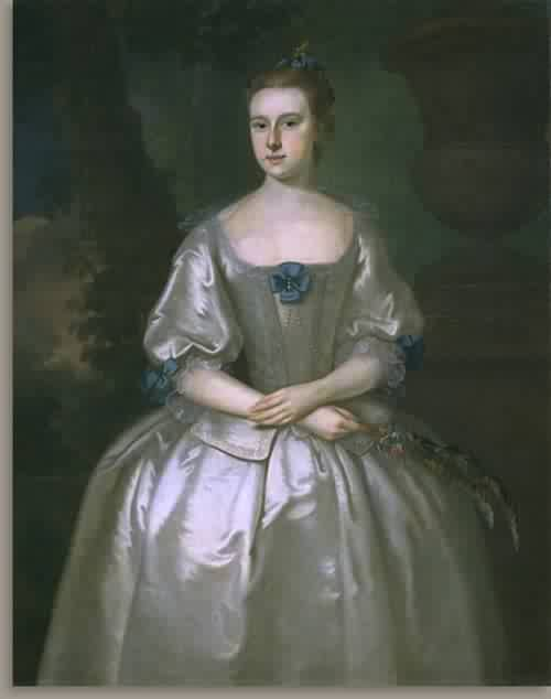 Hannah Babcock Mrs John Bours 1759 | Joseph Blackburn | oil painting
