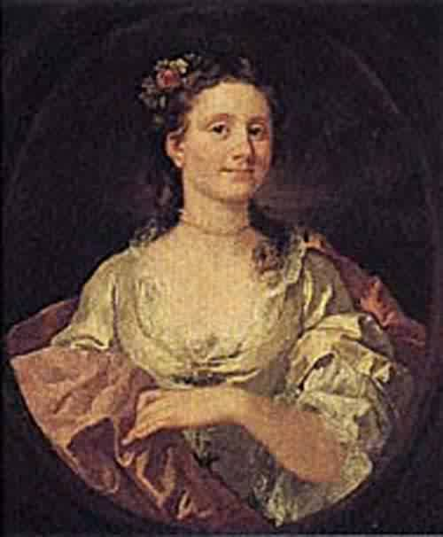 Mrs William James 1744 | William Hogarth | oil painting