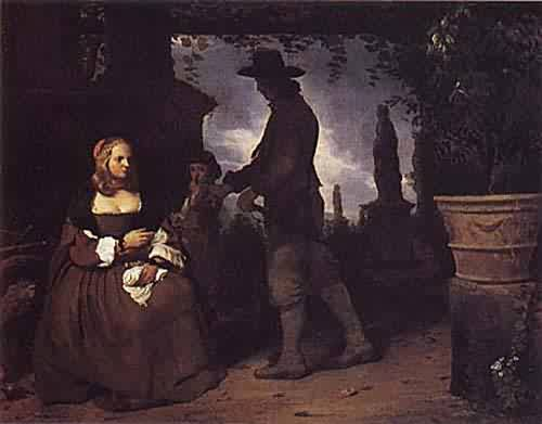 A Young Couple and a Boy in a Garden about 1650 | Michael Sweerts | oil painting