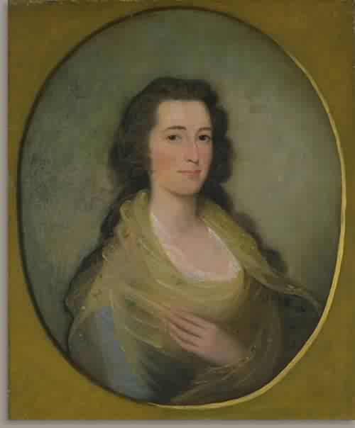 Mary Stiles Holmes Mrs Abiel Holmes 1794 | Edward Savage | oil painting