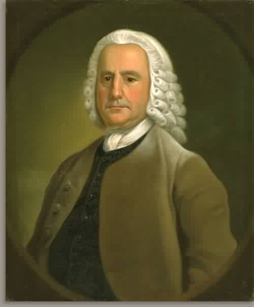 Portrait of a Man Probably Isaac Holmes 1755 | Jeremiah Theus | oil painting