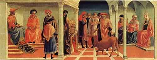 A Miracle of Saint Silvester 1450s | Pesellino | oil painting