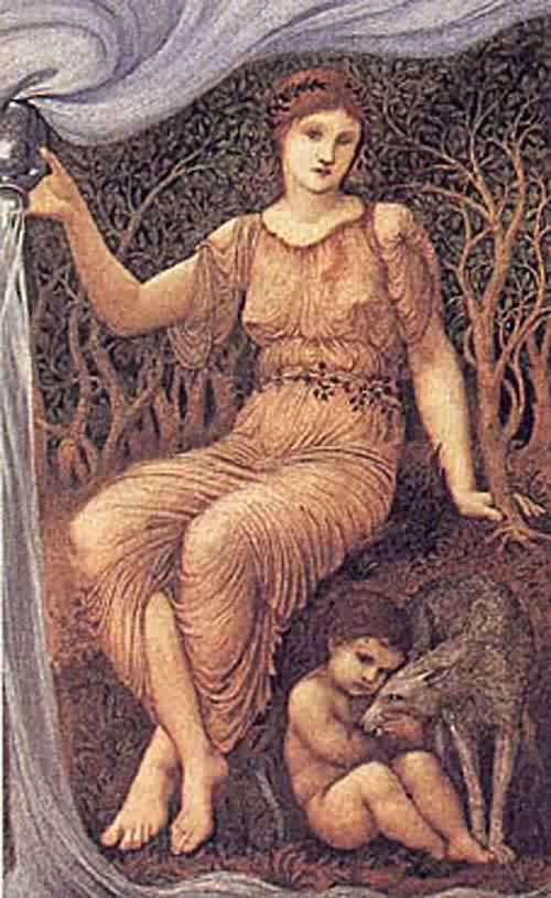 Earth Mother 1882 | SIR EDWARD COLEY BURNE JONES | oil painting