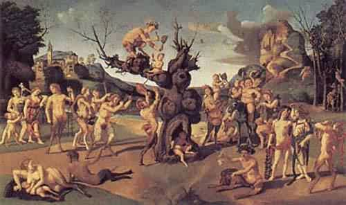 The Discovery of Honey by Bacchus about 1499 | Piero Di Cosimo | oil painting
