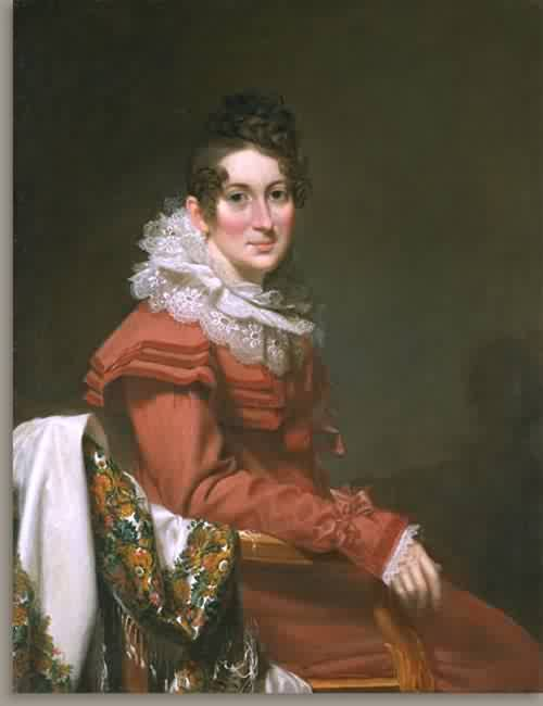Electa Barrell Wilder Mrs Sampson Wilder about 1823 | Samuel Lovett Waldo | oil painting