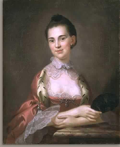 Ann Gibbes Mrs Edward Thomas 1767 | John Wollaston | oil painting
