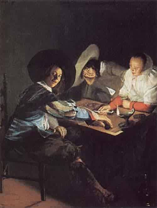 A Game of Tric Trac about 1630 | Judith Leyster | oil painting