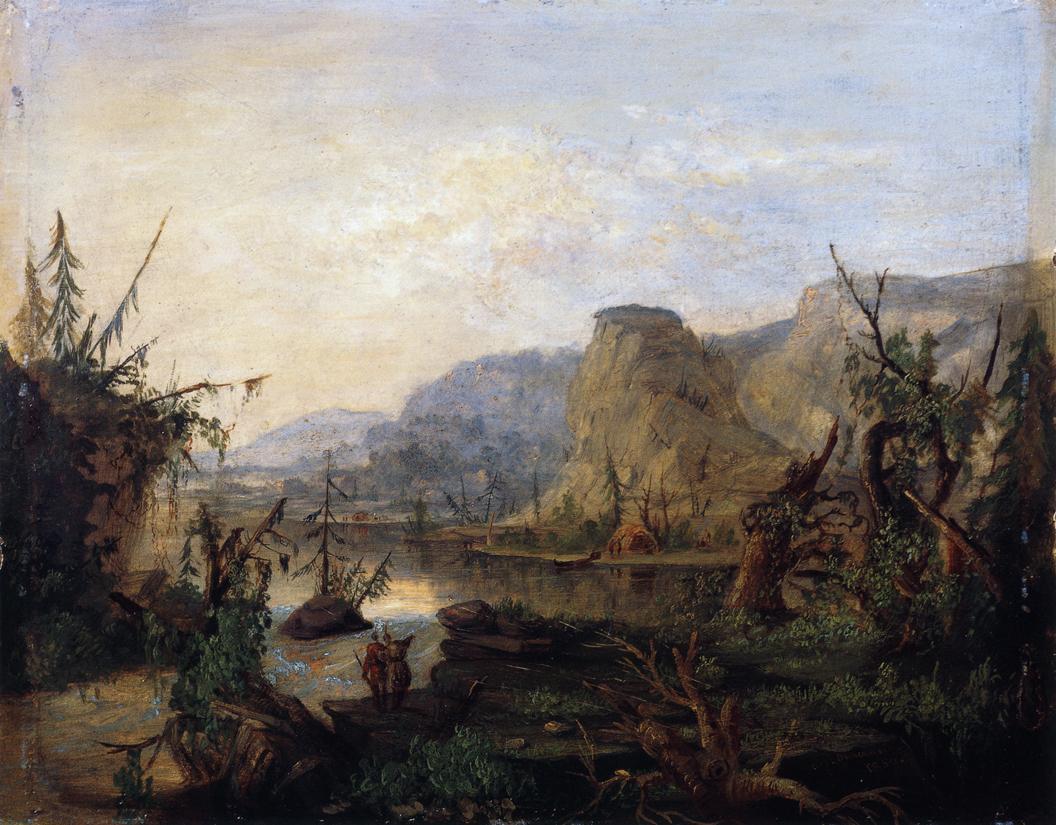 Carp River Lake Superior 1850 | Robert Scott Duncanson | oil painting
