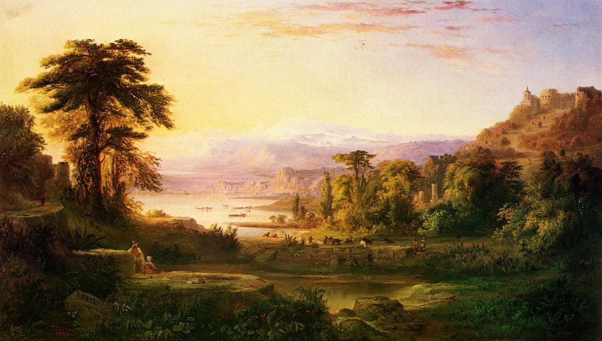 A Dream of Italy 1865 | Robert Scott Duncanson | oil painting