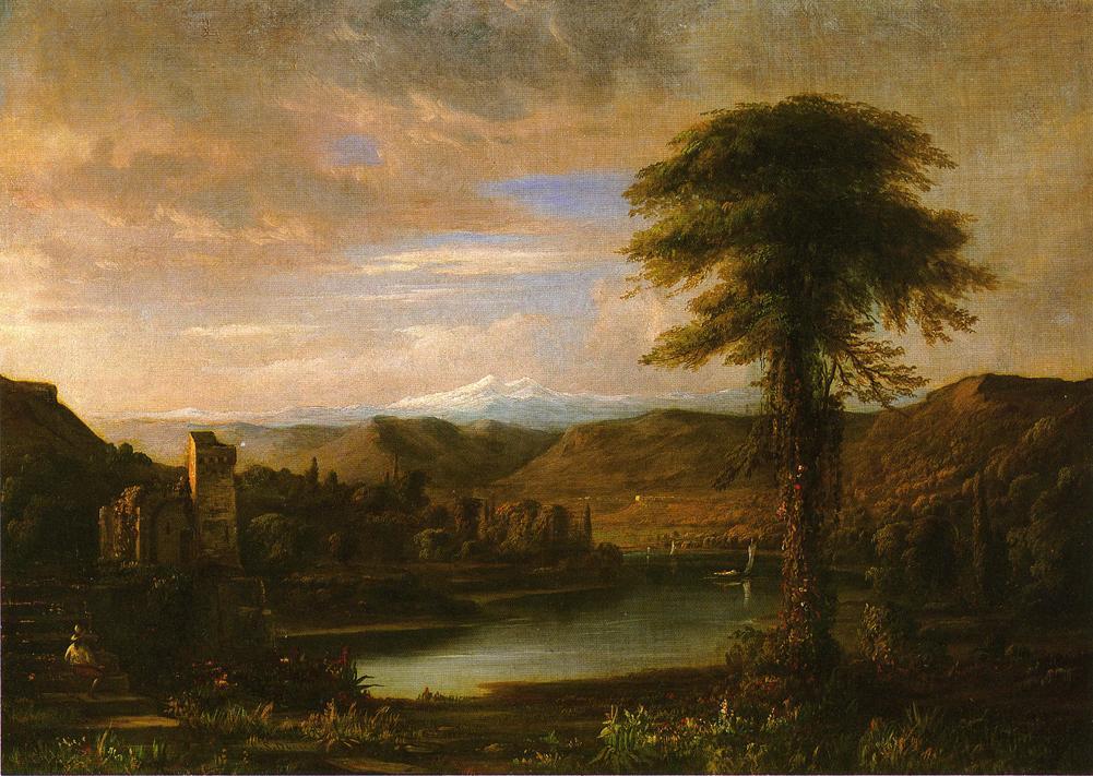 Italianate Landscape 1855 | Robert Scott Duncanson | oil painting