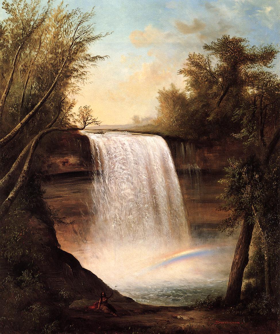 The Falls of MineHaHa 1870 | Robert Scott Duncanson | oil painting