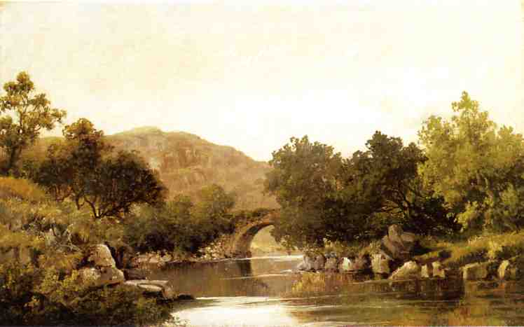 The Stone Bridge 1851 | Robert Scott Duncanson | oil painting