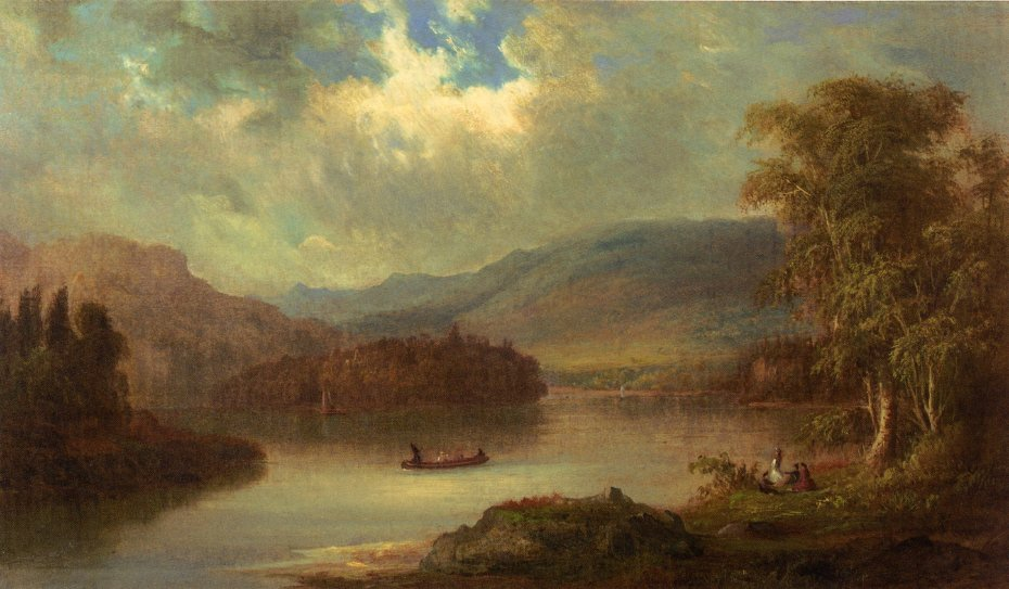 Landscape in Scotland 1870 | Robert Scott Duncanson | oil painting