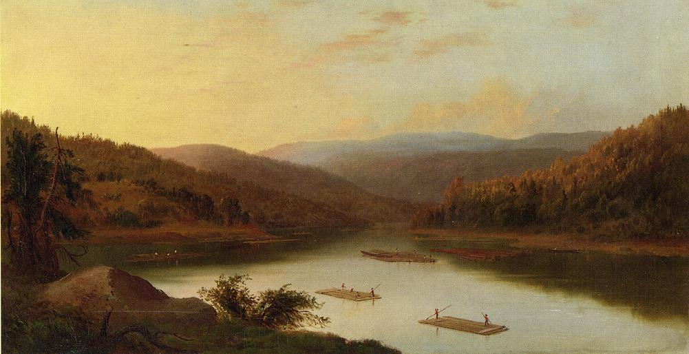 Flatboat Men 1865 | Robert Scott Duncanson | oil painting