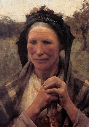 Head of a Peasant Woman 1882 | Sir George Clausen | oil painting