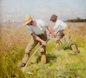 The Mowers | Sir George Clausen | oil painting