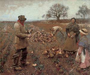 Winter Work 1883 | Sir George Clausen | oil painting