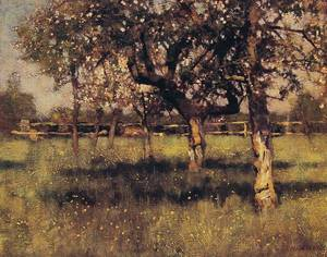 An Orchard in May 1883 | Sir George Clausen | oil painting