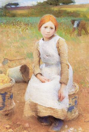 Little Rose 1889 | Sir George Clausen | oil painting
