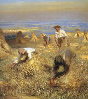 Harvesting the Sheaves 1902 | Sir George Clausen | oil painting