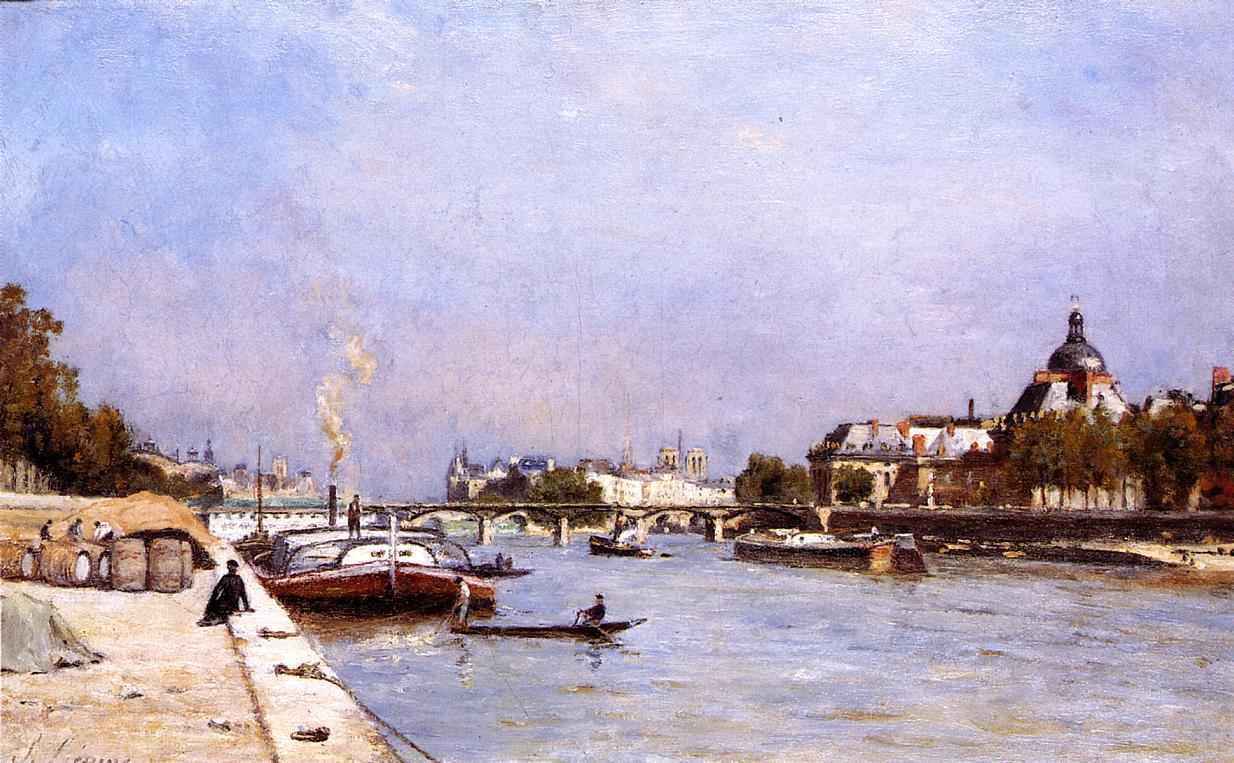 Paris the Pont des Arts 1878 1883 | Stanislas Lepine | oil painting