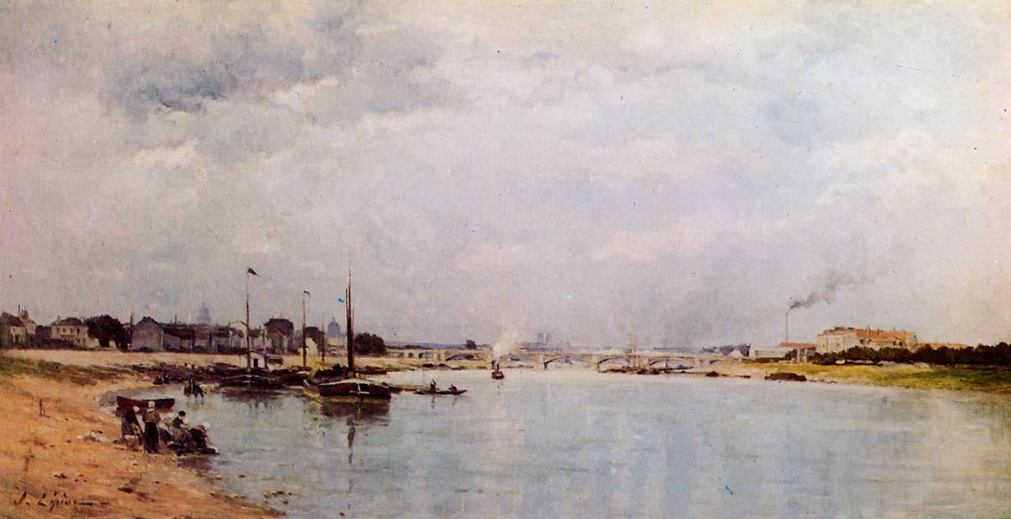 The Saine at Ivry 1885 | Stanislas Lepine | oil painting