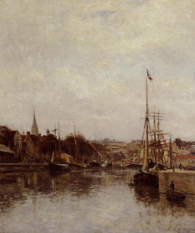 Caen The Dock of Saint Pierre 1860 1864 | Stanislas Lepine | oil painting