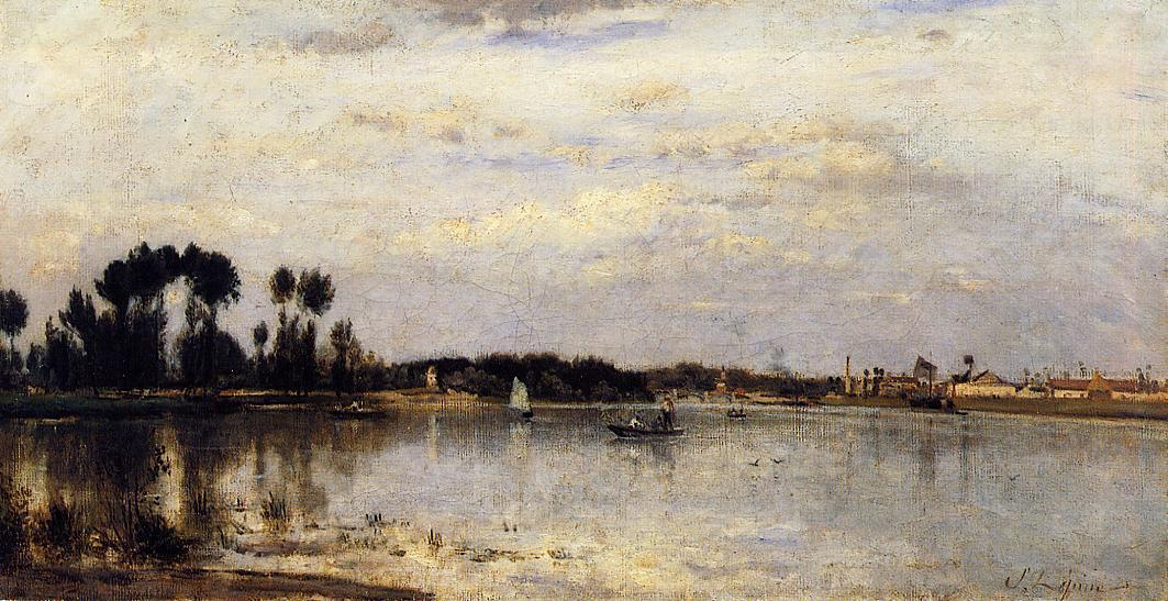 The Saine at Ile Saint Denis 1877 1880 | Stanislas Lepine | oil painting