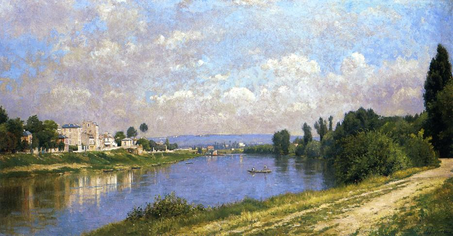 The Seine at la Garenne Saint Denis 1870 1872 | Stanislas Lepine | oil painting