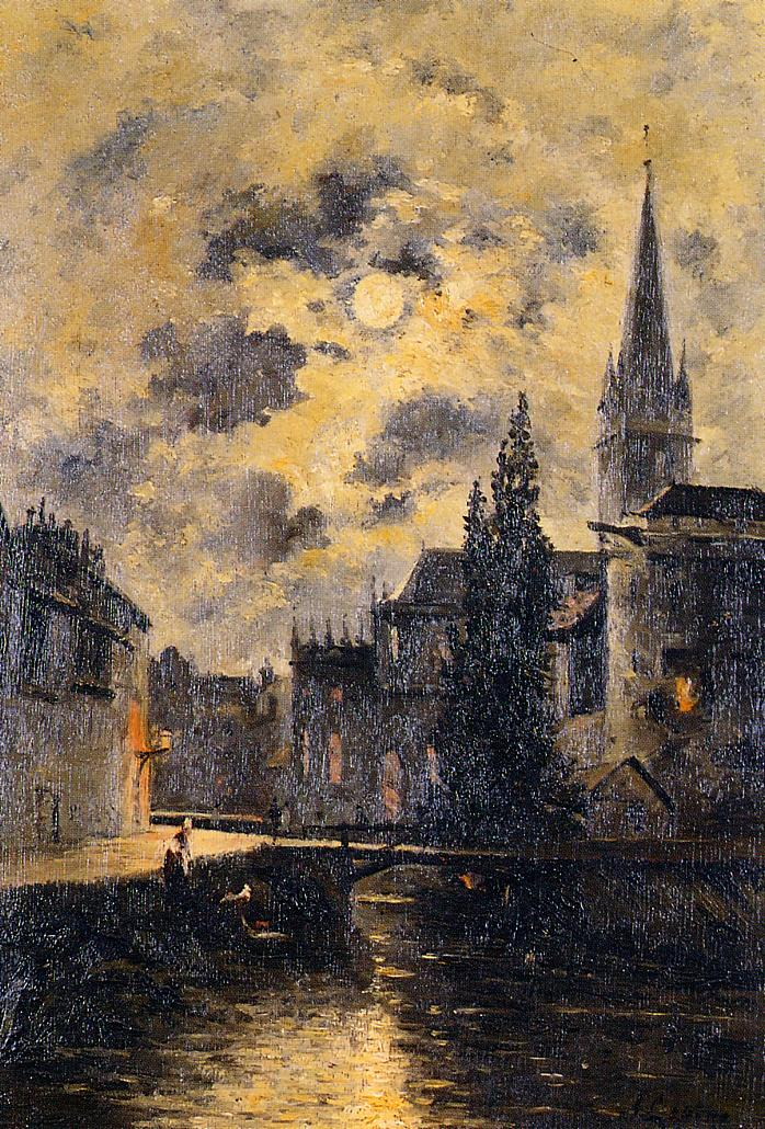 A Moonlit Canal Date unknown | Stanislas Lepine | oil painting