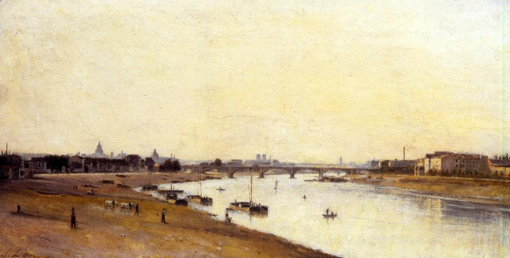 The Pont National as Seen from Quai d Ivry Paris 1873 1877 | Stanislas Lepine | oil painting
