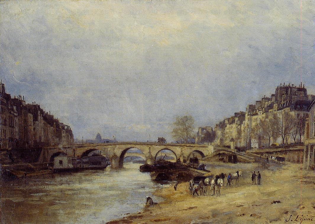 The Saine at Pont Marie 1874 1877 | Stanislas Lepine | oil painting
