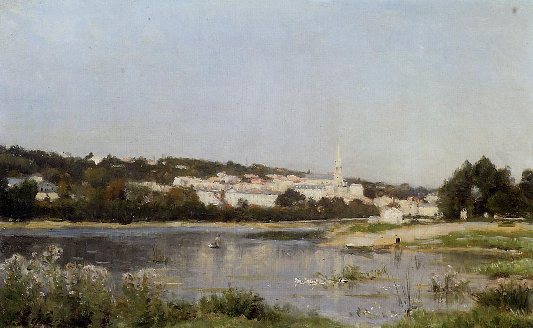 The Banks of the Saine at St Cloud  1872 1877 | Stanislas Lepine | oil painting