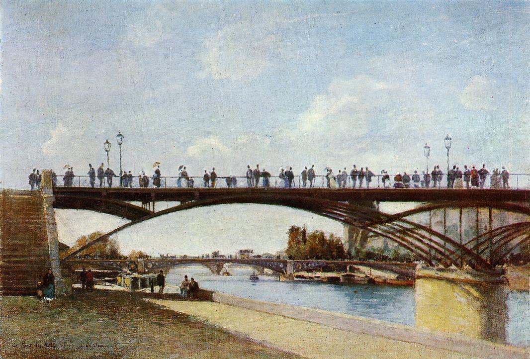 The Pont des Arts Paris 1875 | Stanislas Lepine | oil painting