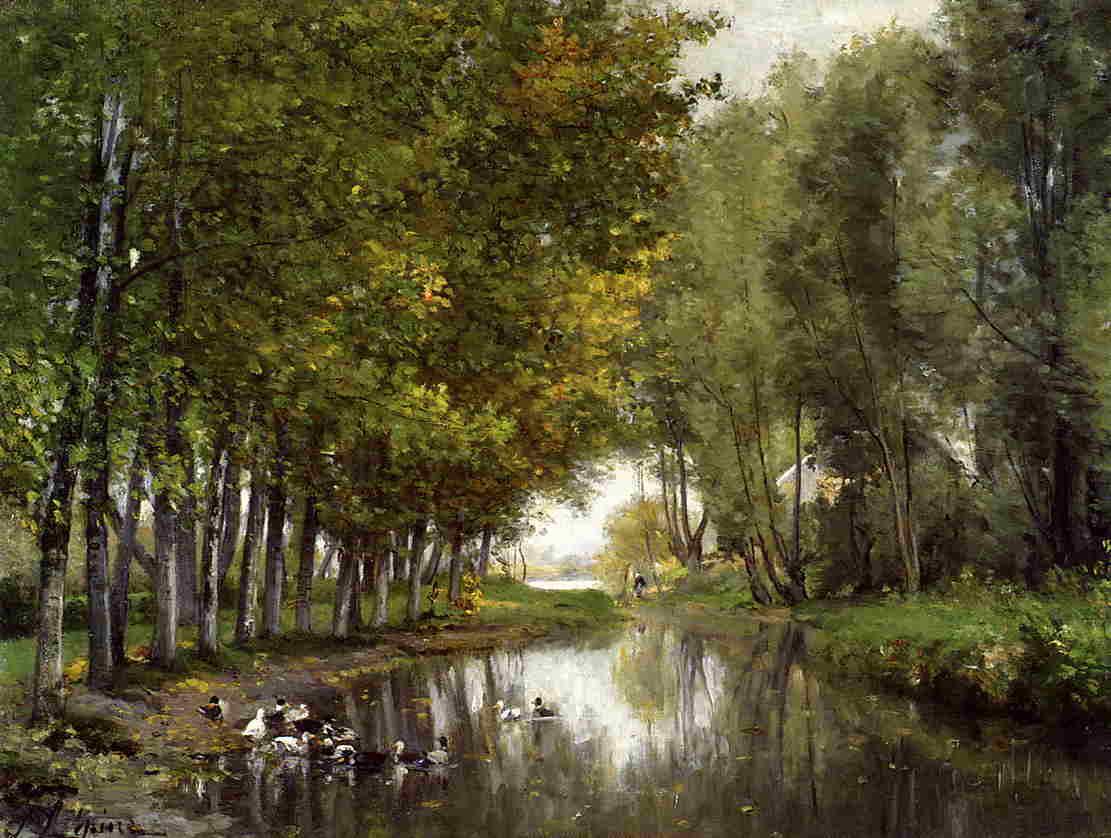 Bras de Seine du cote de Neuilly 1878 1882 | Stanislas Lepine | oil painting