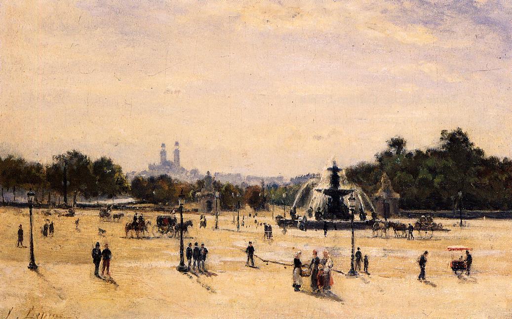 Place de la Concord 1878 1882 | Stanislas Lepine | oil painting