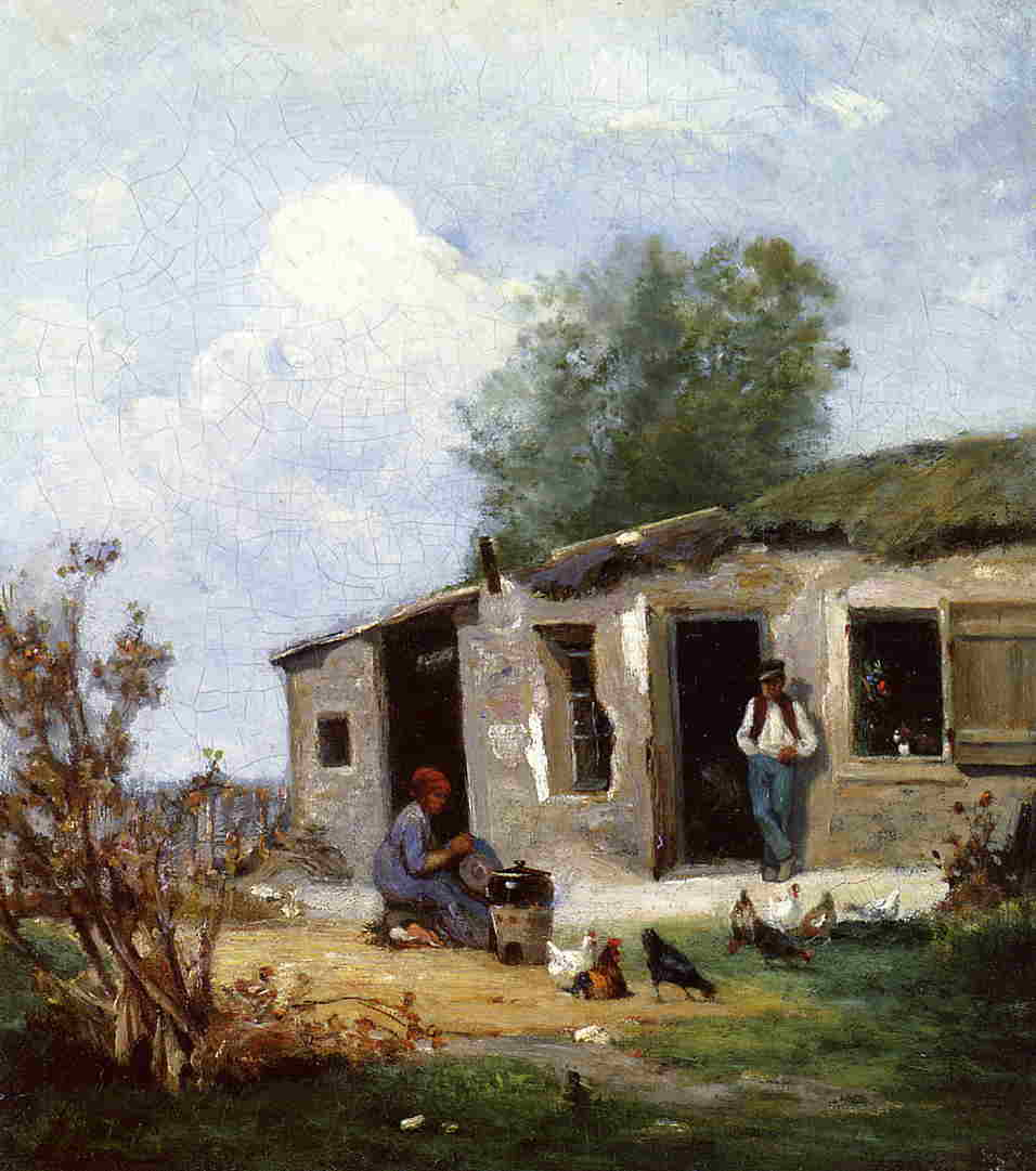 Farmyard in Normandy 1868 1872 | Stanislas Lepine | oil painting