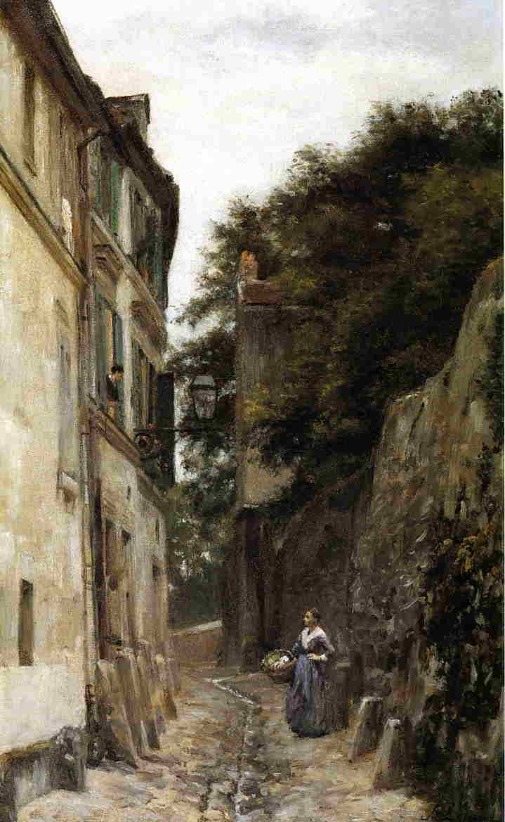 Montmartre the Rue Saint Vincent 1873 1878 | Stanislas Lepine | oil painting